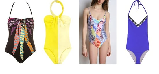 Shopping: One Piece Swimsuits Go Bright