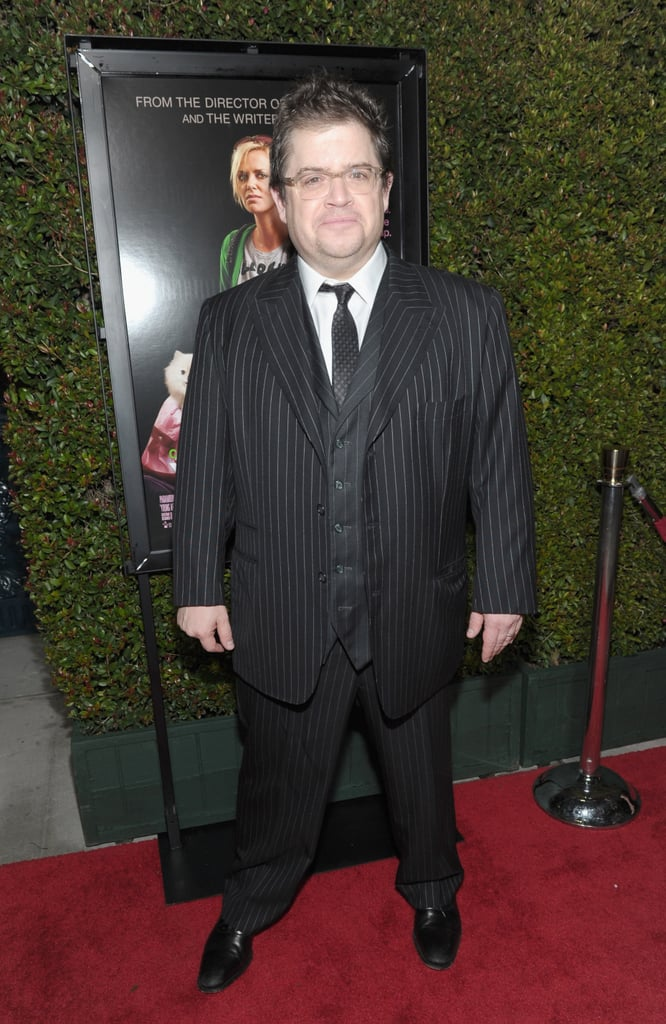 Patton Oswalt wore a three-piece suit to the LA premiere of Young Adult.