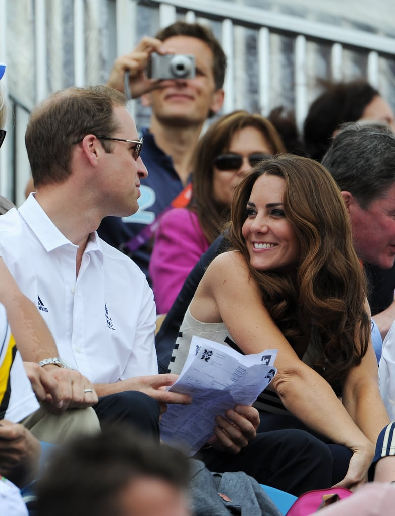 Kate gave William a loving look at the 2012 London Olympics.