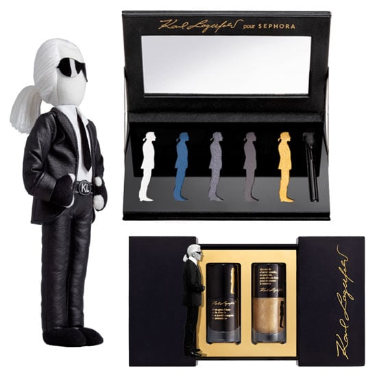 See Karl Lagerfeld's New Sephora Makeup Line Up Close!