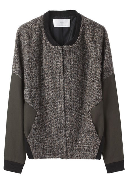 Thakoon Addition's Seamed Motor Bomber Jacket ($480) is made from a thick tweed — making it perfect for wearing to the office.