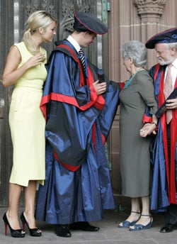 Photos Of Steve Gerrard In University Robes Receiving An Honorary Fellowship