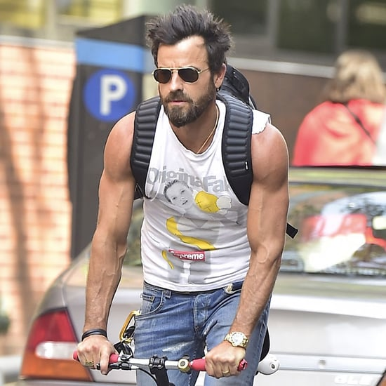 Justin Theroux Riding His Bike in NYC June 2016