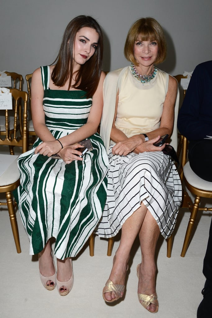 Anna Wintour had daughter Bee Shaffer by her side at the Giambattista Valli show on Monday.