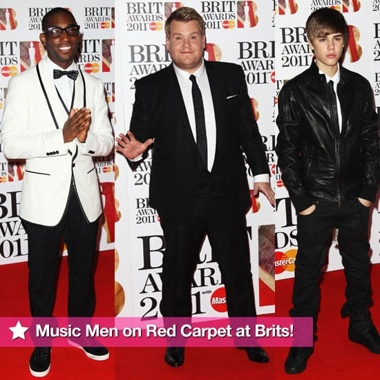 Pictures of Men on Red Carpet at Brit Awards 2011 Including James Corden, Justin Bieber, Tinie Tempah and More