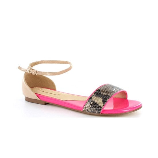 Nude, neon and snakeskin all rolled into one! Perfect flats for jeans or pants until the climate warms up. — Laura, www.shopstyle.com.au country manager Sandals, $99.95, Siren at Wanted Shoes