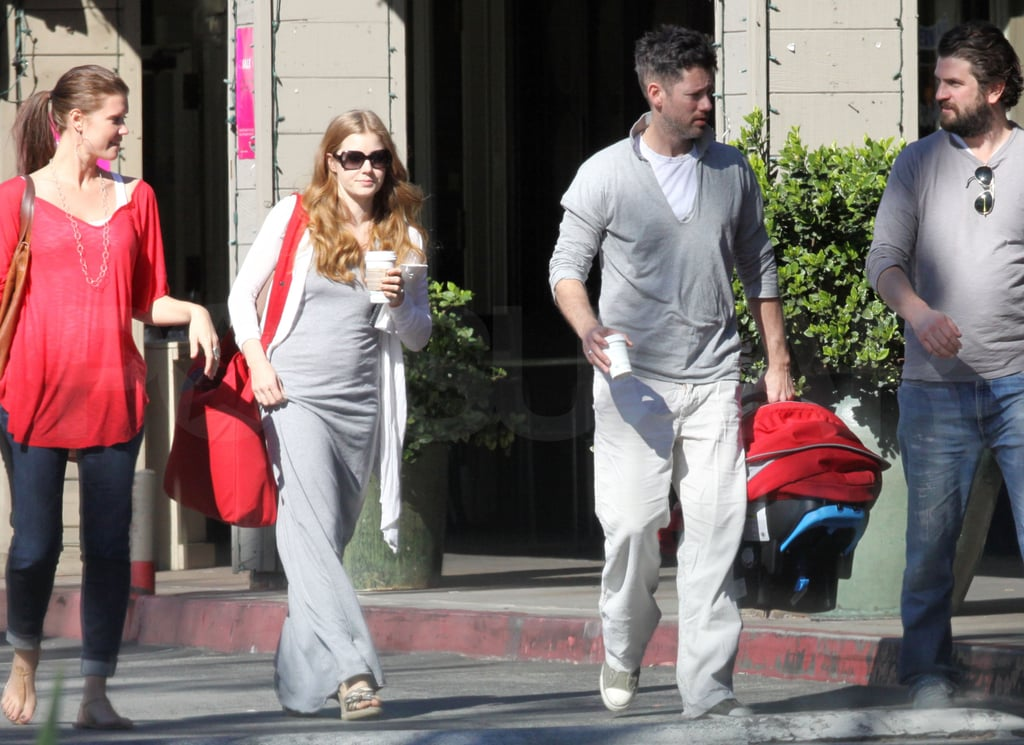 Amy Adams Makes a Coffee Pit Stop With Darren and Baby Aviana