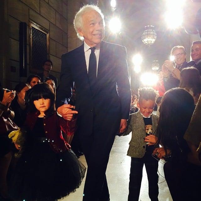 Alicia Keys' son, Egypt Dean, walked the Ralph Lauren kids' fashion show with the designer himself. Source: Instagram user aliciakeys