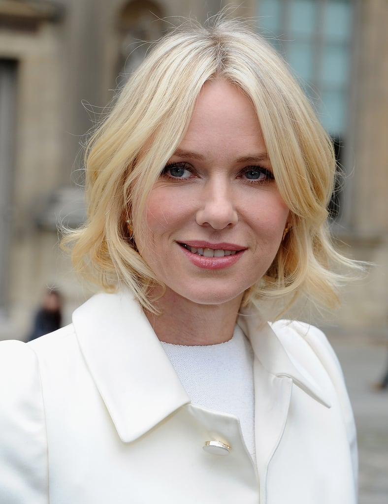Elevate a softly waved bob à la Naomi Watts by adding a crystal-encrusted pin or comb to your hair.