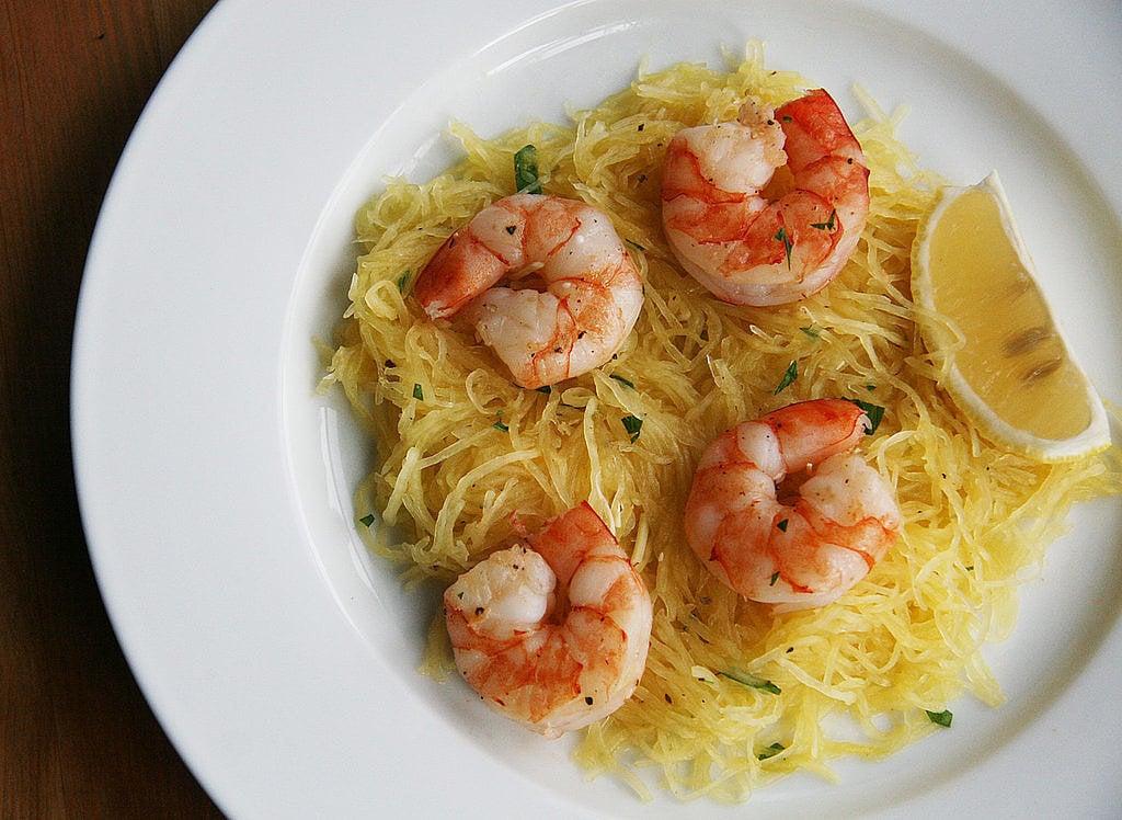 Roasted Spaghetti Squash With Shrimp