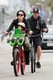 Pink went for a bike ride in LA with her family.