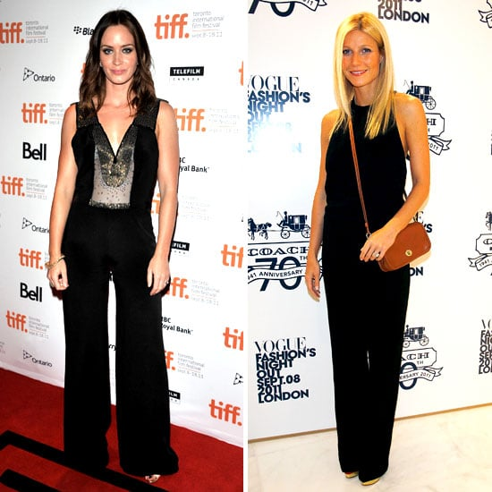Emily Blunt and Gwyneth Paltrow Wearing Black Jumpsuits
