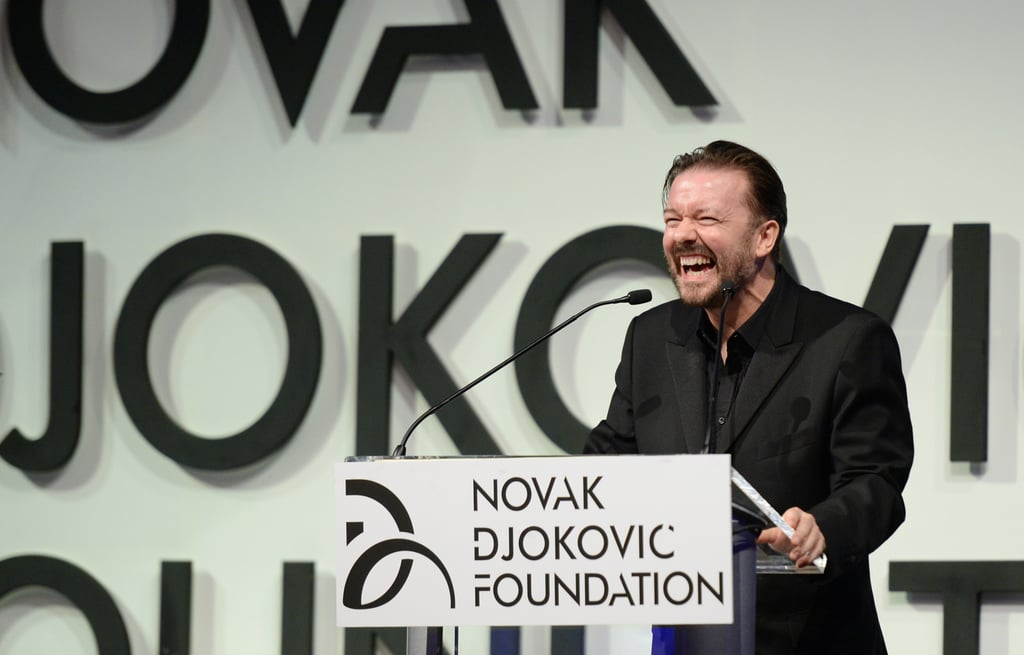 Ricky Gervais took the stage.