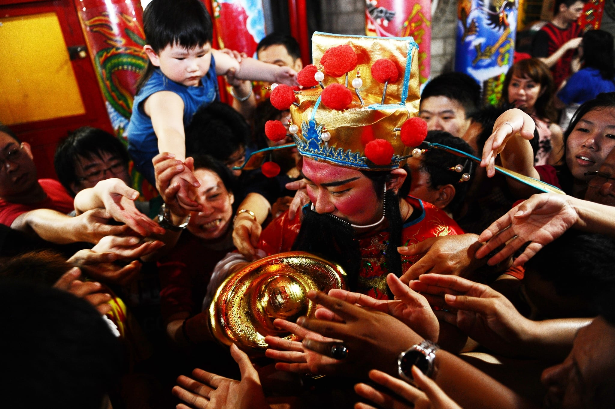 Worshipers gathered at the Hong San Ko Tee Temple in Surabaya, Indonesia, for the new year celebrations.
