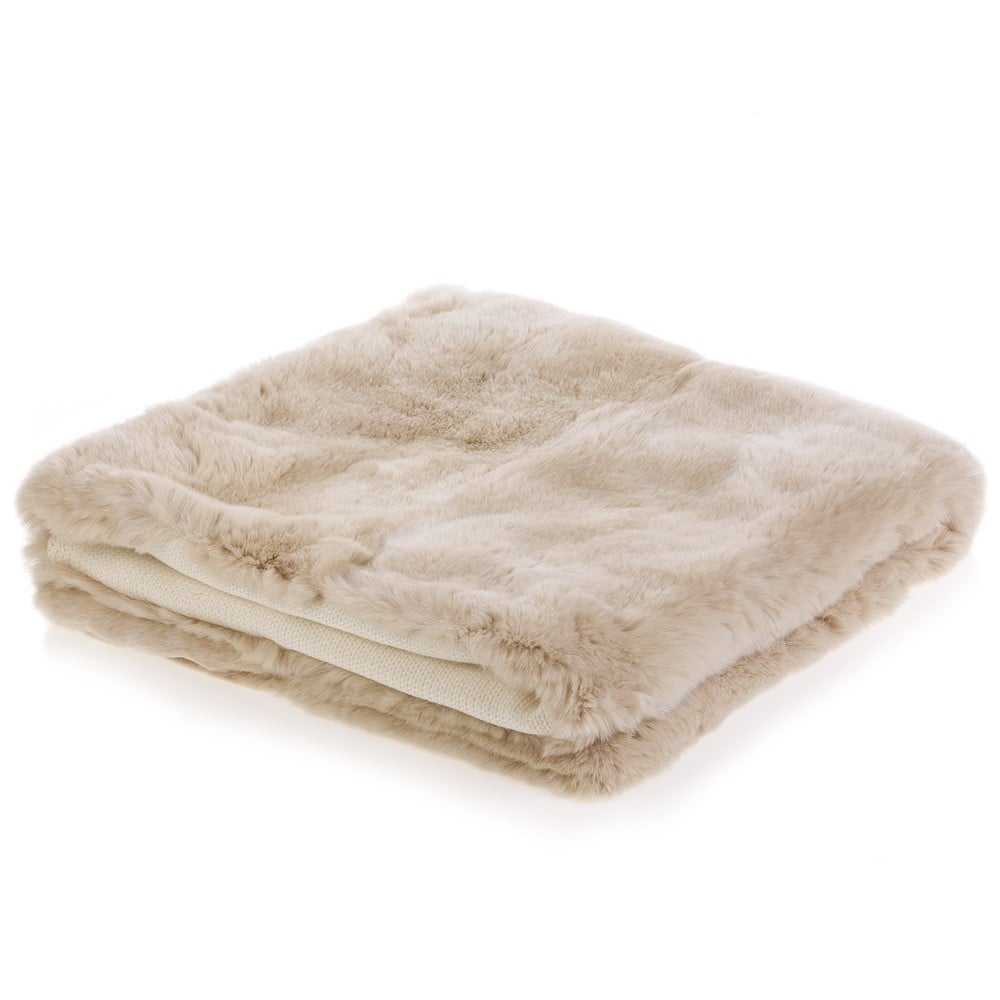 Beige Fur Baby Blanket With Wool Lining ($545)