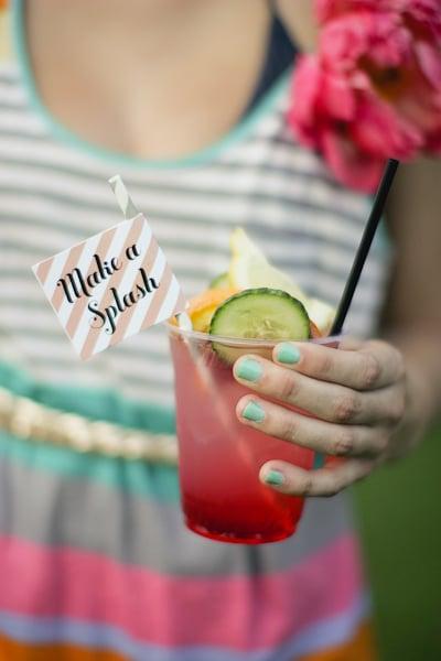 Make a Splash Drink Flags