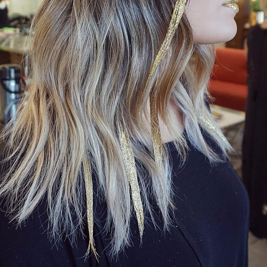 Image result for glitterage on hair