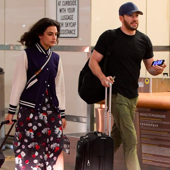 Chris Evans and Jenny Slate at LAX July 2016