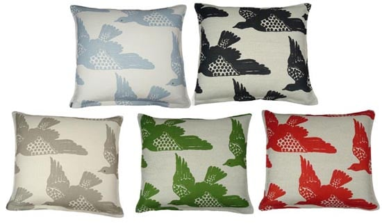 Nice and New: Hable Construction Cayenne Birds Pillow