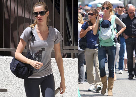 Pictures of Gisele Bundchen Exercising in LA and Shopping With Benjamin Brady