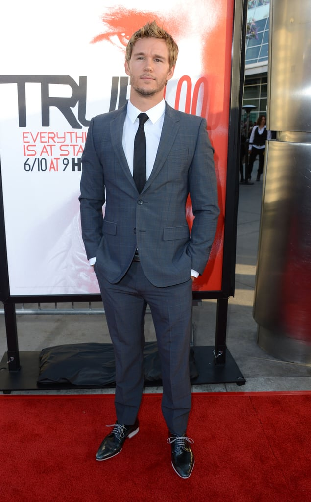 Ryan Kwanten looked laid back and handsome at the premiere.