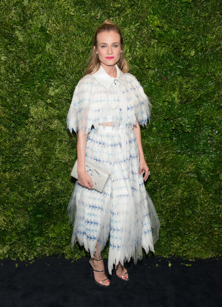 Diane's Chanel dress was quirky yet feminine at the 8th Annual Museum of Modern Art Film Benefit.