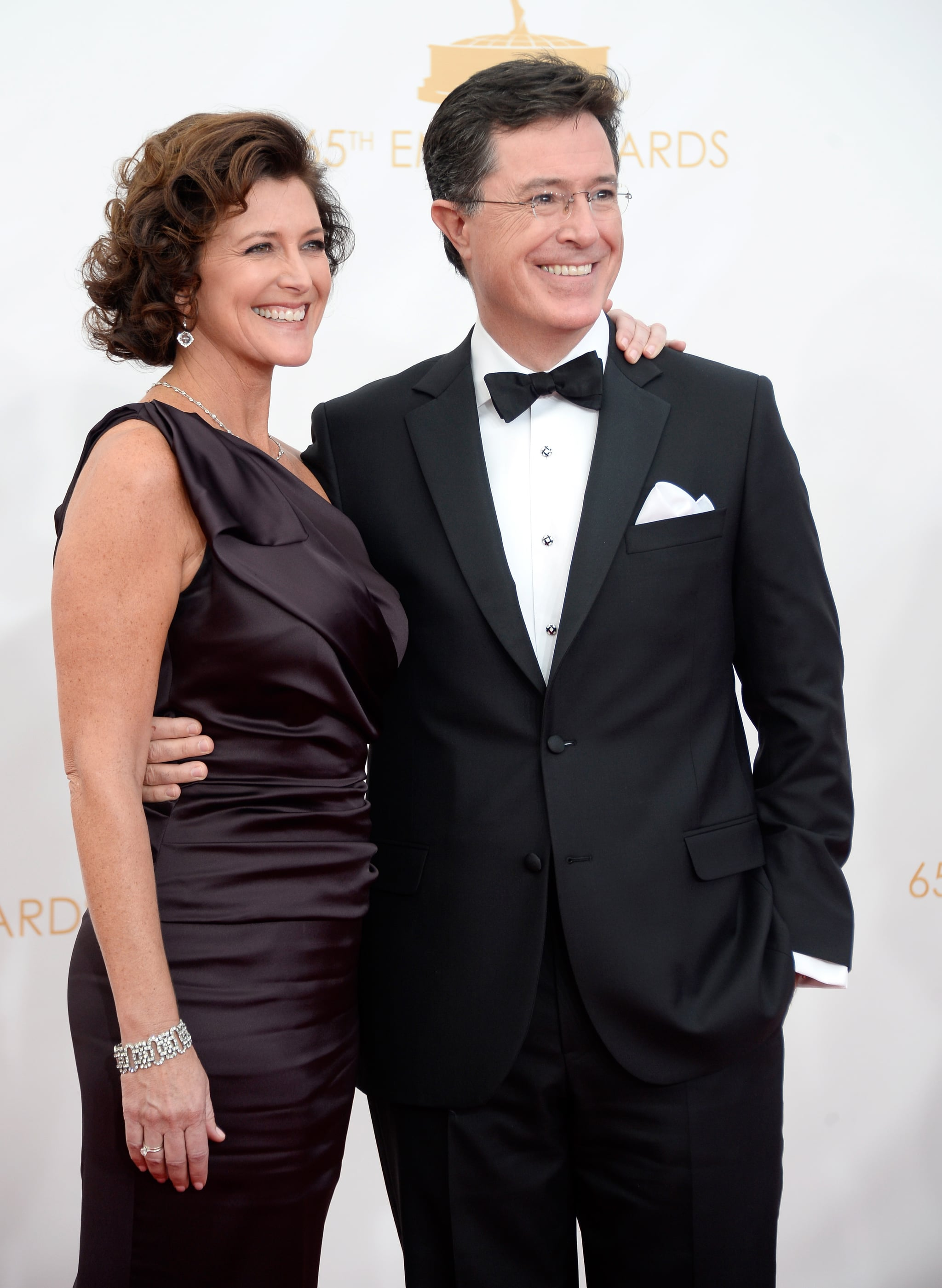 Stephen Colbert and his wife, Evelyn, walked the Emmys red carpet together.