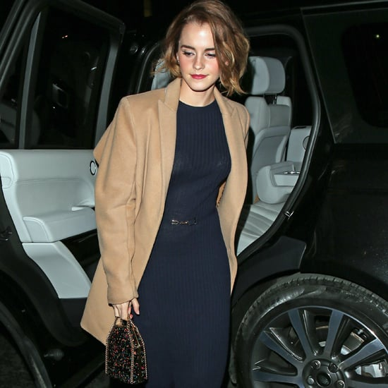Emma Watson Carrying a Sparkly Bag