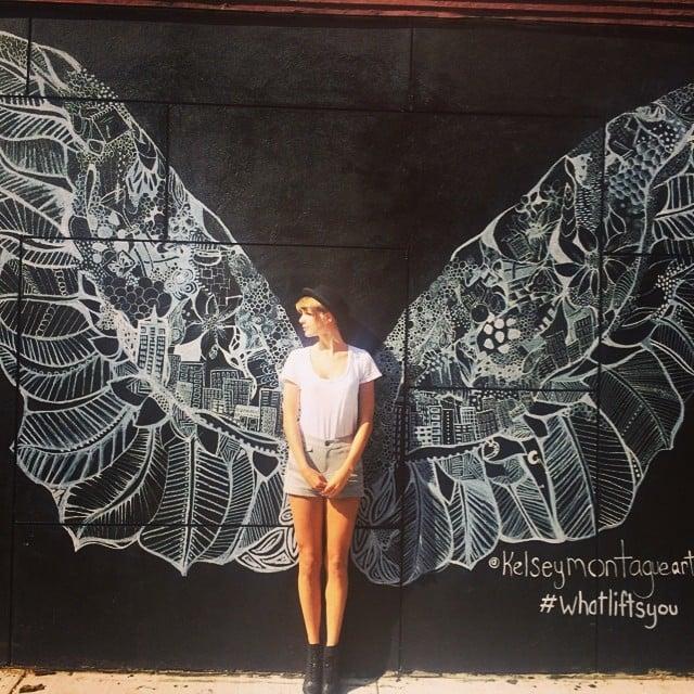 Taylor Swift had wings. Source: Instagram user taylorswift