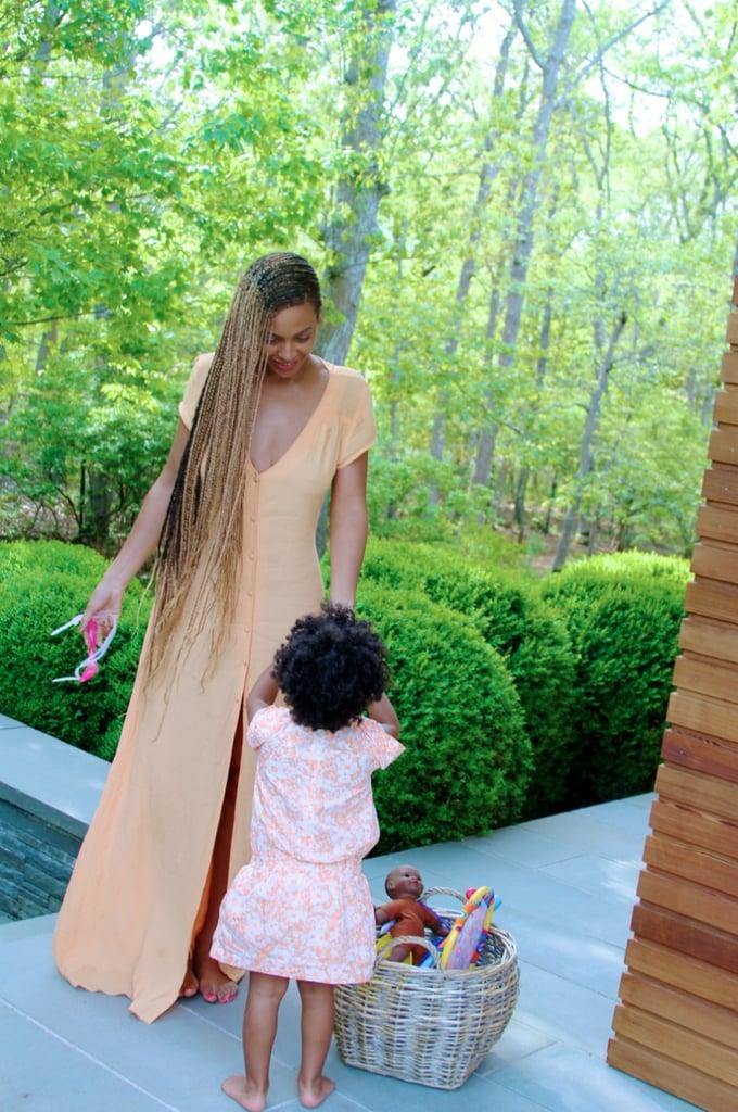 Blue Carter had a basket full of surprises for her mom, Beyoncé. Source: Beyonce.com