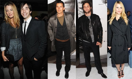 Photos of Orlando Bloom, Claire Danes, Blake Lively, Penn Badgley at Burberry in NYC