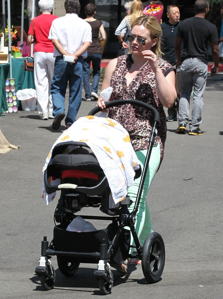 Hilary Duff and Luca Comrie: Bugaboo Special Edition All Black Cameleon