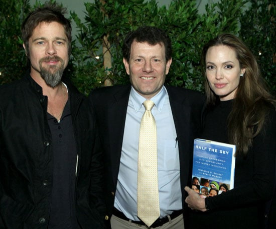 Slide Photo of Brad Pitt and Angelina Jolie At Book Event