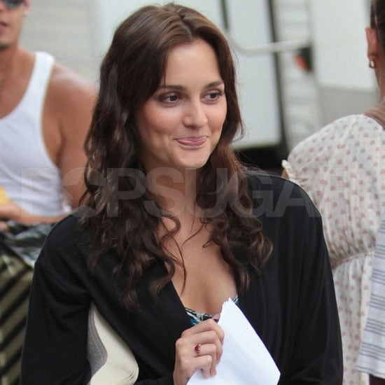 Leighton Meester Pictures Filming Gossip Girl With Chace and Elizabeth