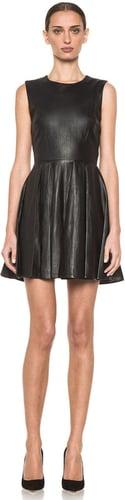 Diane von Furstenberg Jeannie Leather Dress in Black & Black