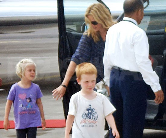 Slide Photo of Julia Roberts Leaving Phinnaeus and Hazel Moder at the Airport