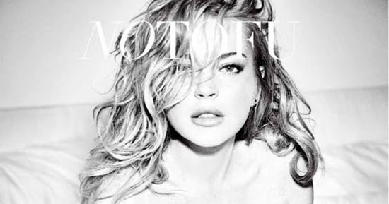 Lindsay Lohan Poses Nude In Bed For No Tofu Magazine Cover