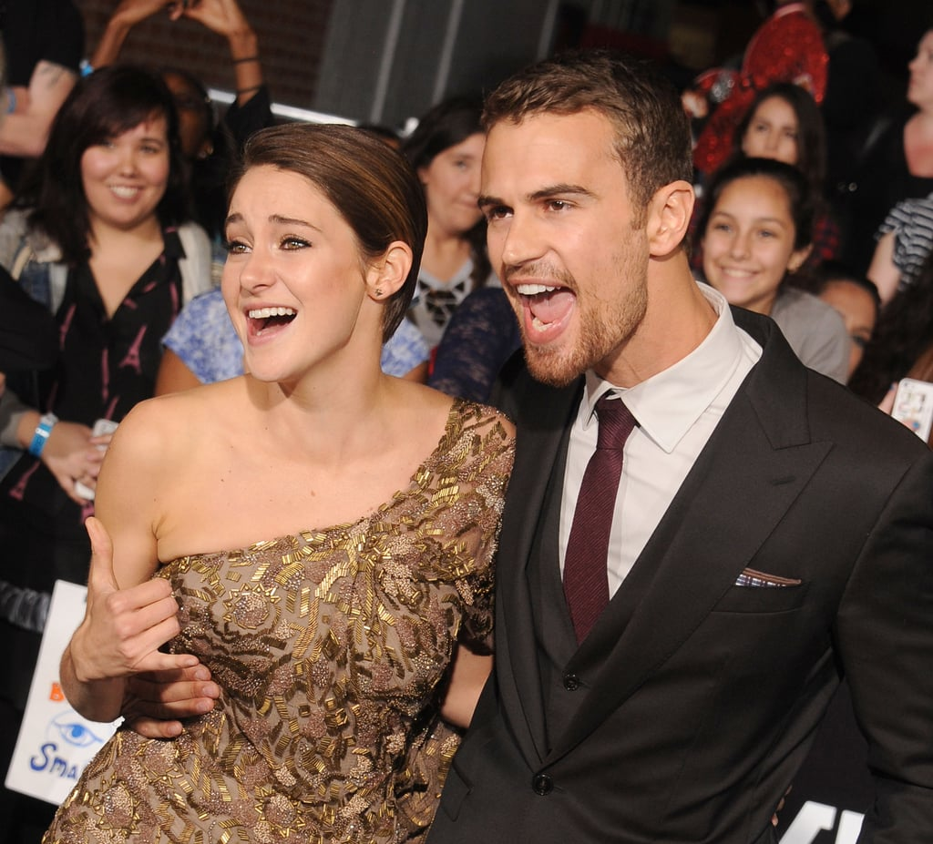 Shailene Woodley and Theo James Letting Loose