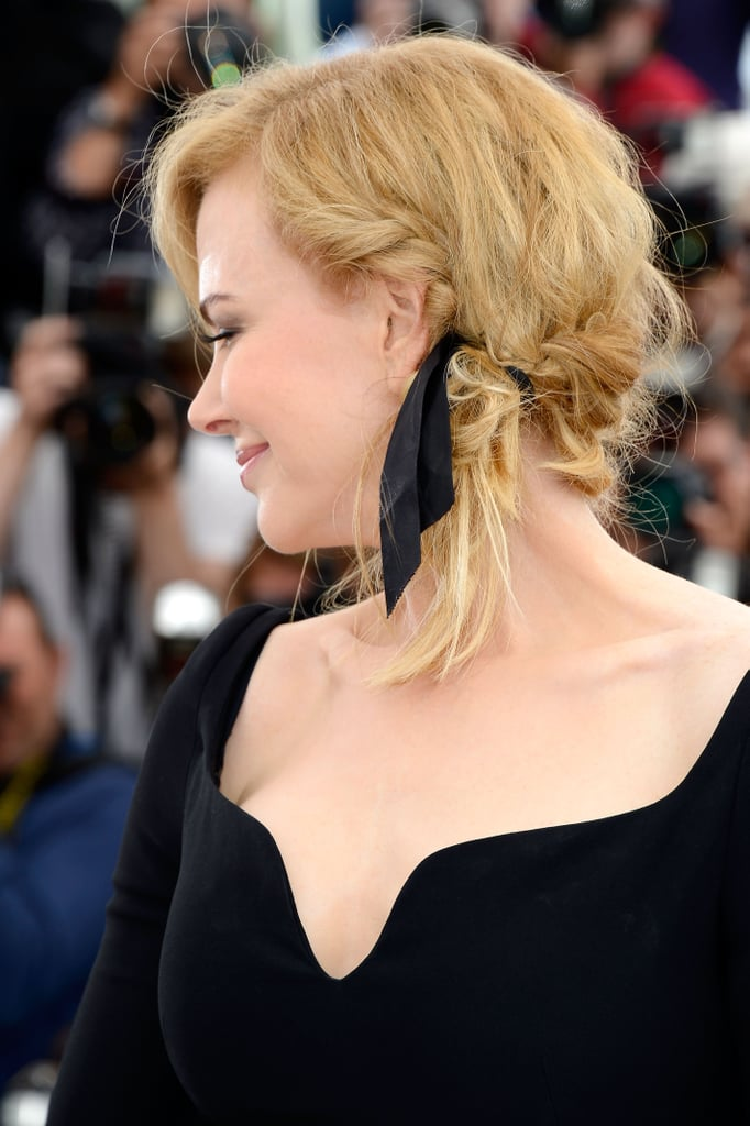 Nicole's relaxed hair look from the side. It's very different for her.