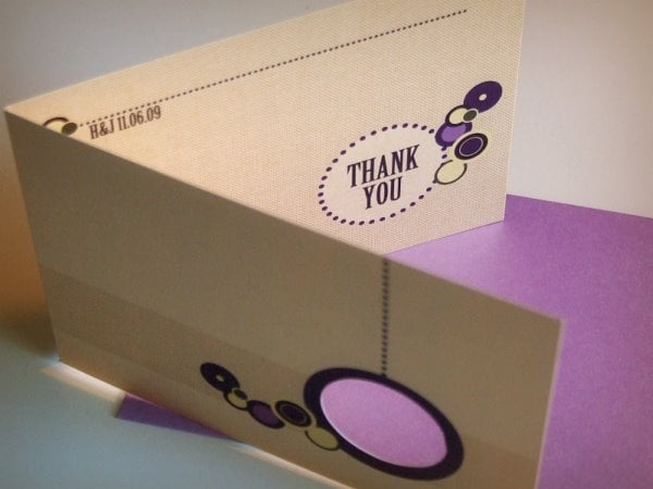 Cutout Thank You Card