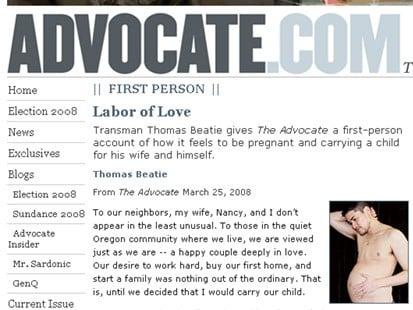 Is the Pregnant Man a Hoax?