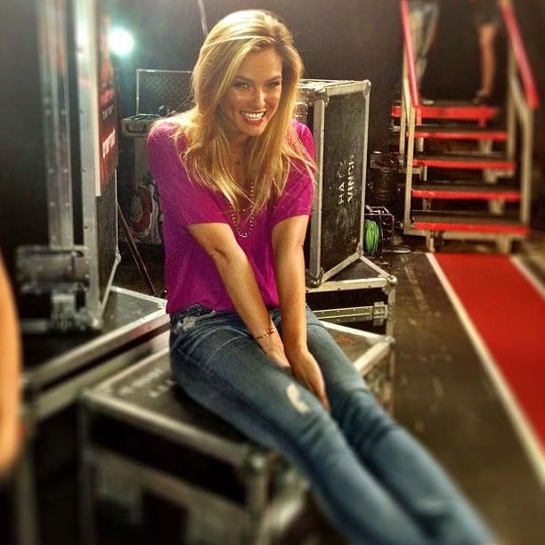 """Bar Refaeli shared """"a moment of excitement"""" on the set. Source: Instagram user barrefaeli"""