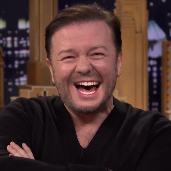 Ricky Gervais's Lip Flip on The Tonight Show | Video