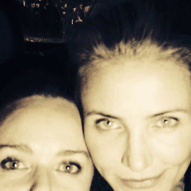 Cameron Diaz and Stella McCartney had a girls' night out. Source: Instagram user stellamccartney