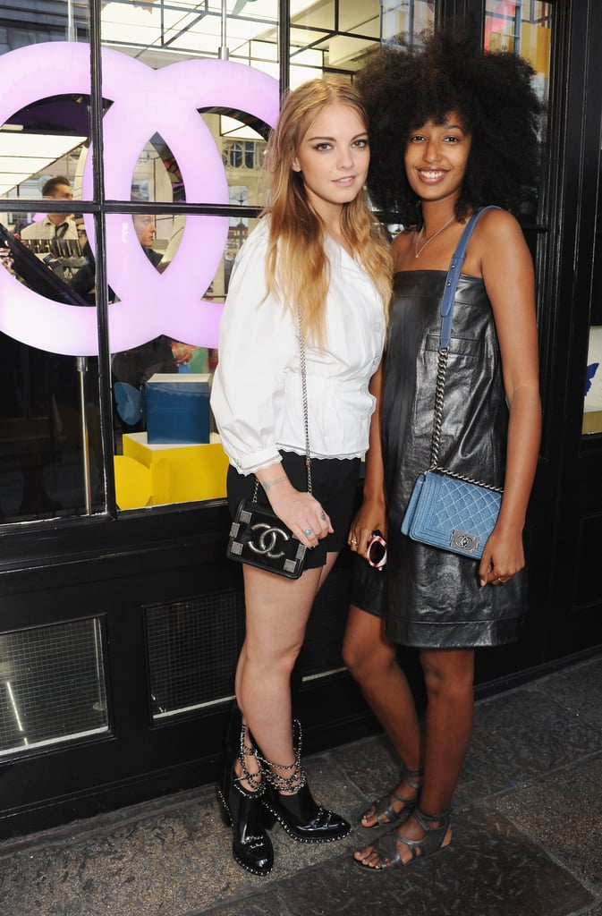 Laura Hayden and Julia Sarr-Jamois were Chanel-clad for the label's London fete.