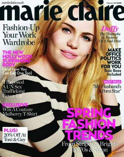 Pictures of Duffy in February 2011 Marie Claire UK Magazine