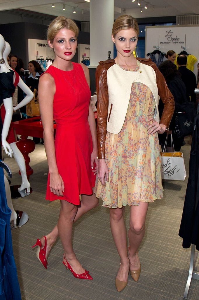 Two looks from Z Spoke's dress collection.