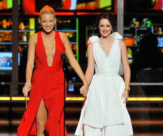 Blake Lively and Leighton Meester walked hand in hand to the mic to present in 2009.
