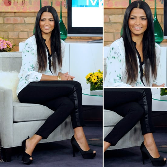 Camila Alves Printed Silk Blouse