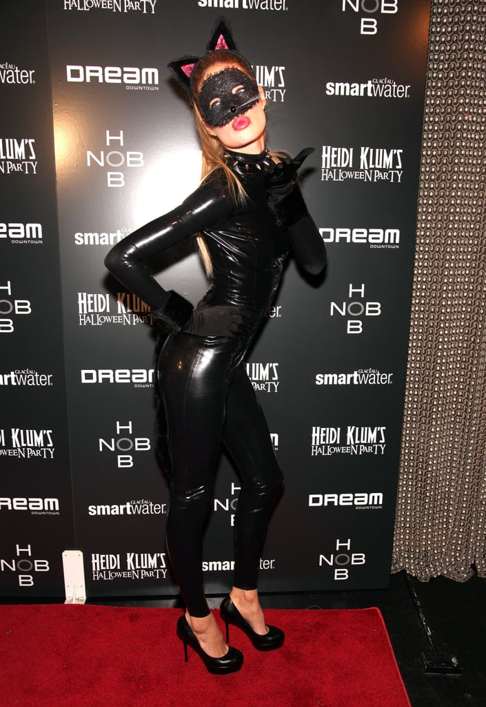 Doutzen Kroes showed off a fierce pose in her feline suit in 2011.
